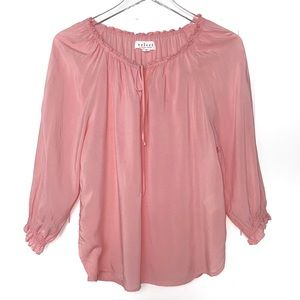 🌺Velvet Pink Peasant Top X-Small